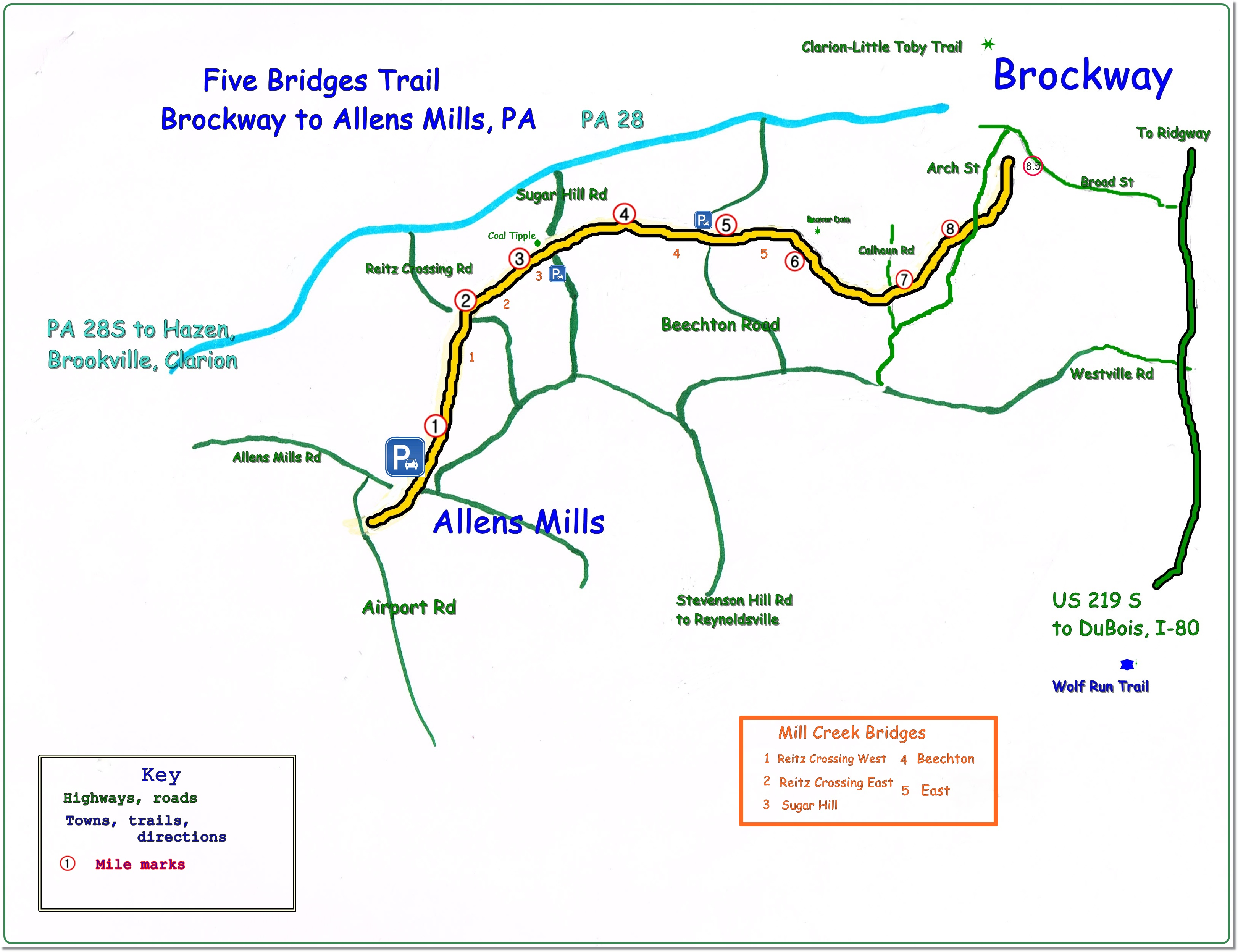 Five Bridges Trail Map